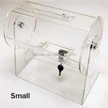 Small Clear Acrylic Ticket Barrel