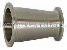 "SS304 Sanitary 4""X 2"" Triclamped Concentric Reducer With 2"" Ferrule"