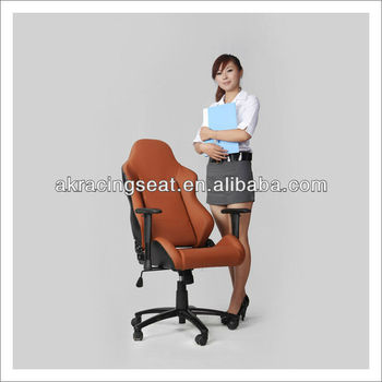 AKRACING HOT choice EN1335 Brown Reclining PU modern staff office chair