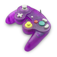 clear purple color For Nintendo Gamecube NGC Wired Shock Controller, Joypad