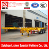 flatbed semi trailer Africa triple axle 20ft 40ft 40ft skeleton container semitrailer