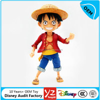 Disny Authorized Toys Factory OEM hot anime one piece pvc figure, interesting action figure Luffy
