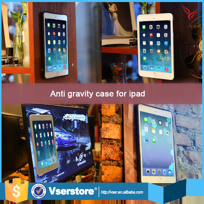 Factory price anti gravity magical selfie sticky absorb nano suction case for ipad mini