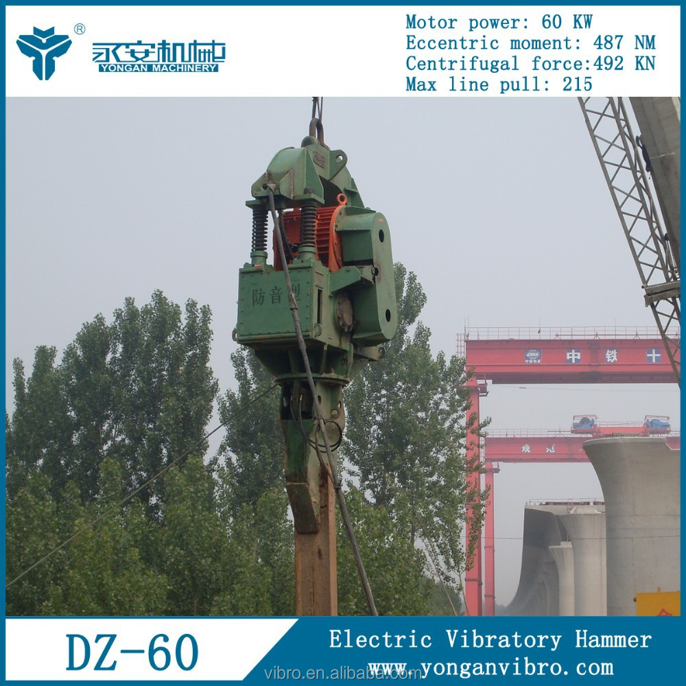 Sheet pile driving machine