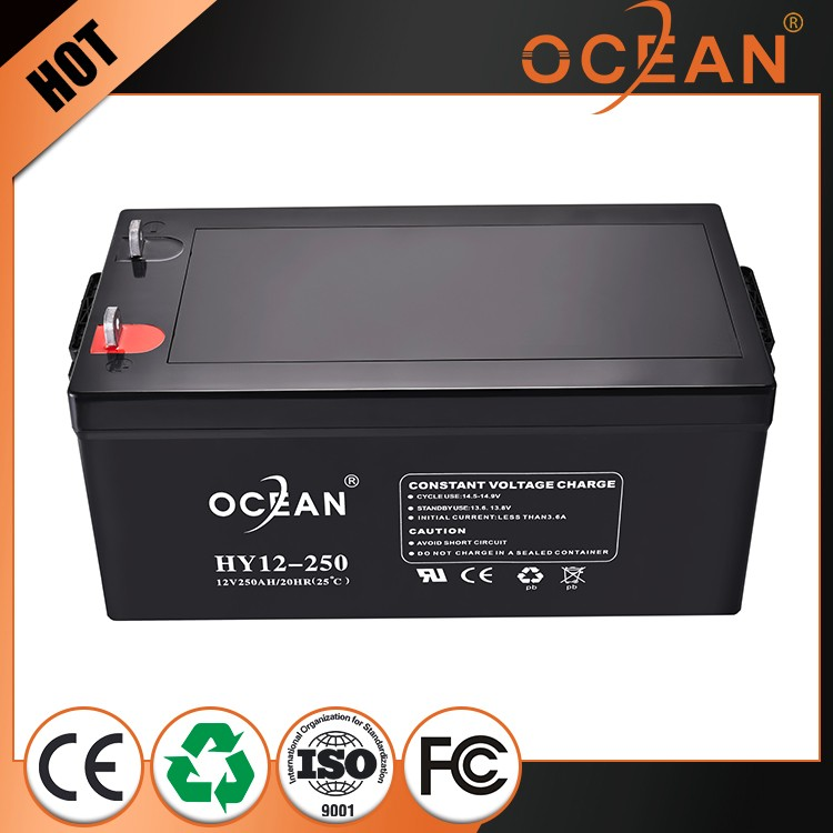 China manufacturer Long Life battery Solar Gel battery 12v 250ah agm deep cycle battery