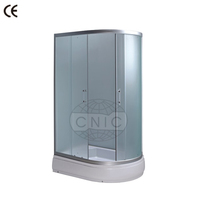 New design glass door enclosed shower room