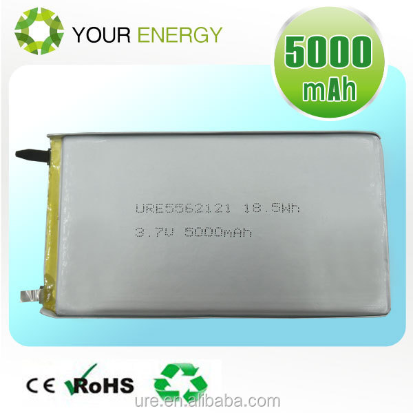 High Capacity Rechargeable 3.7V 5000mAh tablet PC Lithium Polymer Battery