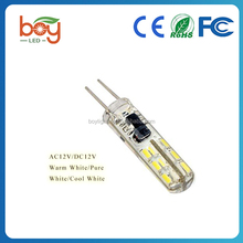 LED lamps 3W G4 3014 SMD 24LEDs Crystal Chandelier Silicone LED bulbs