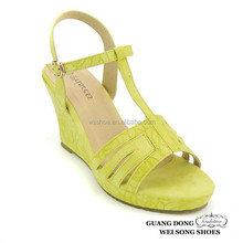 Wholesale price TPR sole open toe new wedges lady sandals shoes pretty sexy women wedge sandals