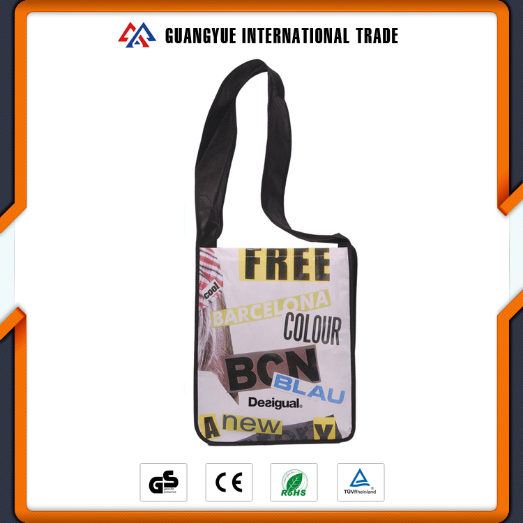 Guangyue 2017 Hot Sale Fashion Customize Mens PP Non Woven Shoulder Bag