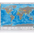 Detailed World Map with Scratch off Stickers Large Size and Tube Packaging AMA-08