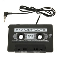 3.5mm Near CD quality Black Car Audio Cassette Adapter for iPod/MP3/CD Player for iphone wholesale