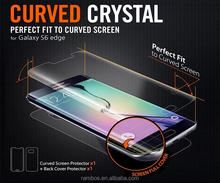 Front & Back Full Body Covered Screen Membrane Transparent Clear Explosion-Proof Screen Protector for Samsung Galaxy S6 Edge G9