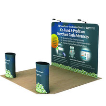 20ft Portable stretch fabric pop-up display