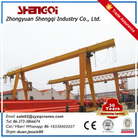 Q235B steel made rail traveling workshop mh gantry crane 20 ton