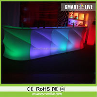 Outdoor plastic glowing recharging combined furniture led bar counterRecharging Furniture Led Bar CounterNightclub Led Sofa