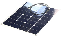 50W Flexible solar photovoltaic panel with curved surface