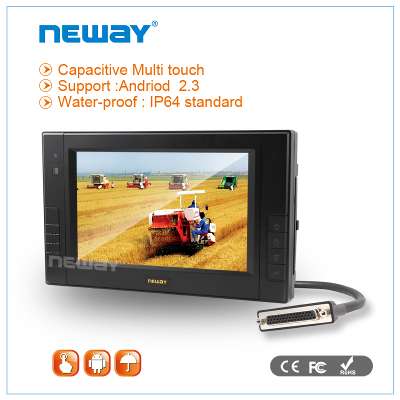7 inch WinCE Android Linux vehicle CAN 3G waterproof touch tablet