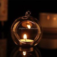 Terrarium Votive Hanging Glass Candle Holder,garden candle holder