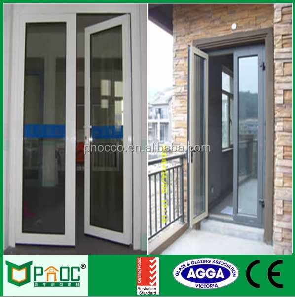 High Quality White Colour Powder Coated Aluminum Casement Door