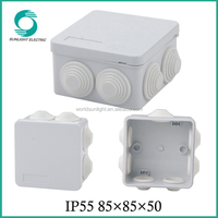 waterproof square enclosure ABS connection junction box with pre-cut hole