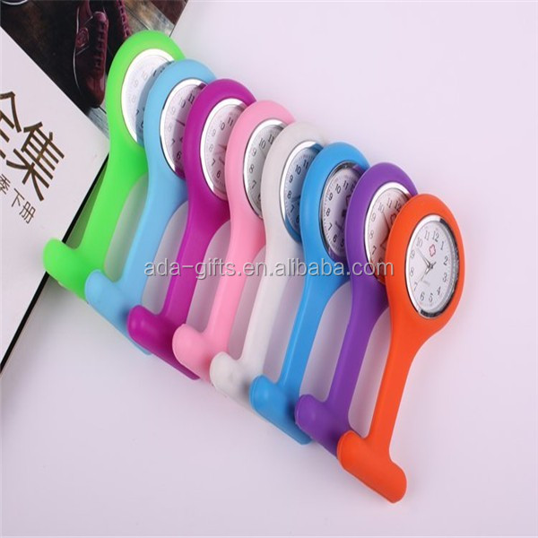 Portable Promotion Gifts Brooch Silicone Nurse Watch