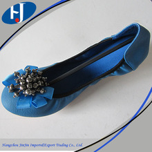 Top products hot selling new 2014 roll up ballerina shoes