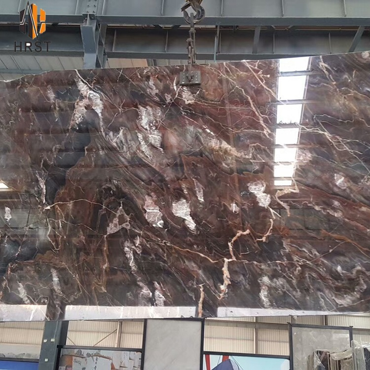 Imported Wine red color natural stone Venetian red marble slab