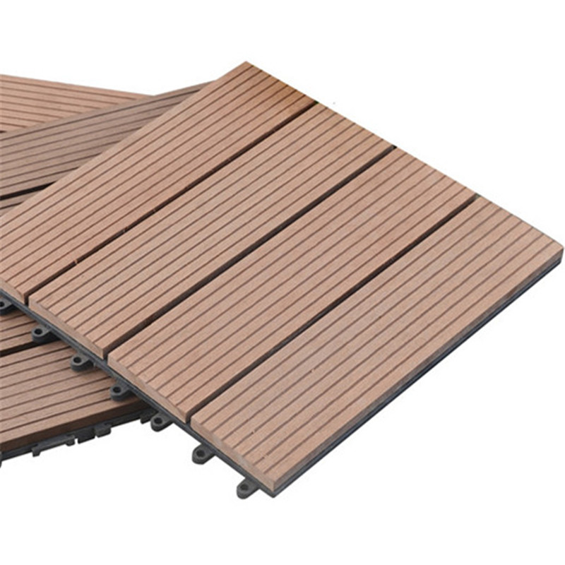 Water proof wpc decking tile 30x30cm for outdoor
