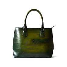 Texas Leather Manufacturing Handbags/Women Hand Brush-off Luxury Leather Tote Bag