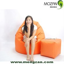 living room furniture single seater 100% polyester sofa micro beans bean bag chair
