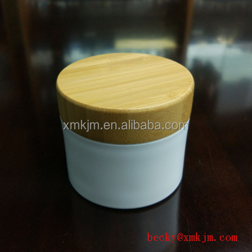 cosmetic packaging 15g 20g 30g 50g 100g 150g 200g 250g cream jar with bamboo cap