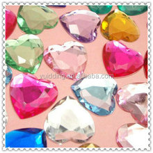 Heart Shaped Colorful Lucite Confetti For Wedding Party Supply