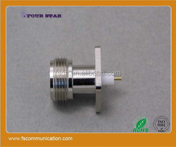 N Female Flange Extended 5mm Insulator Connector with 3mm Pin