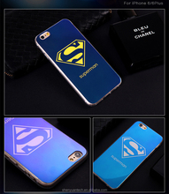 Special Touch Feeling hard PC Backcover Protective Blue Lighter Phone Case by Laser Engraved with Superior Protect Function