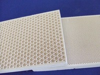 High quality honeycomb infrared ceramic plates for infrared gas burner, cordierite catalytic infared ceramic plague 132x92x13mm