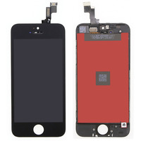 LCD Touch Screen Digitizer Frame Assembly Full Set LCD Touch Screen Replacement for iPhone 5S Black