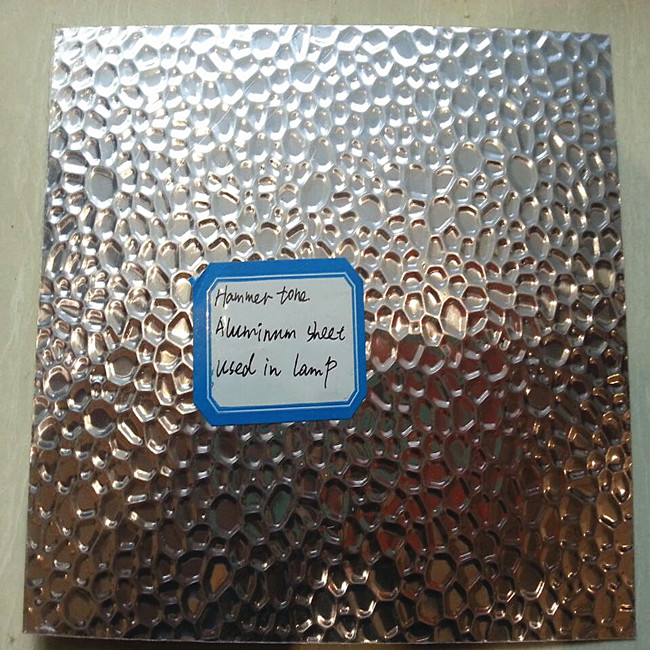 0.3mm 3003 h14 reflective hammered aluminum sheet