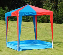 outdoor camping steel polyester children gazebo with swimming pool