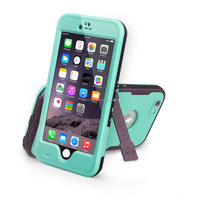 "2016 new design waterproof/Shockproof Stand Case Cover for Iphone 6 4.7"" Blue"