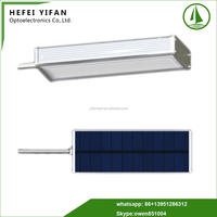 15W fast heat dissipation solar powered street lamp 60 degrees Celsius working temperature