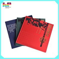 Custom low cost full color cloth hard bound cover book