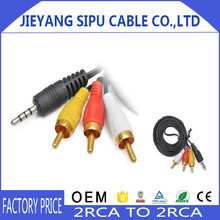 3.5 mm 4pin stereo Jack to 3 RCA Audio Video AV Adapter Cable