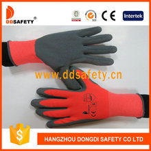 DDSAFETY 13 Gauge Neon Orange Nylon Latex Coated Gloves Passed Ce En388 2122