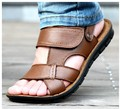 men leather sandals and slippers Latest 2018 summer beach sport sandals genuine leather sport sandal shoes