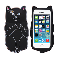 2016 trend product cheap price 4 colors Cool Colorful anti-crash cute cat silicon Mobile Phone Case For iphone SE 5s