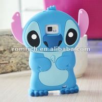 Cute 3D Cartoon Blue Silicone Soft Case For SAMSUNG GALAXY S II S2 I9100