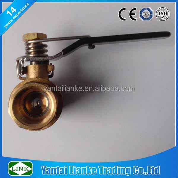 brass spring handle self closing ball valve