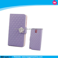 Genuine pu leather wallet case for samsung galaxy note 3 n9000