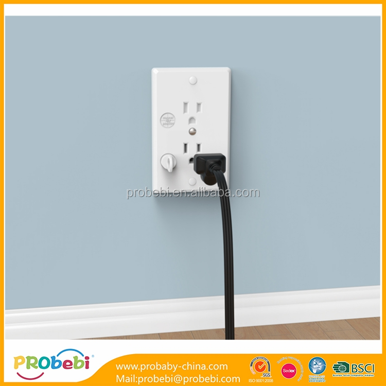 Magnetic Electric Socket Outlet 3 Plug Safe Cover